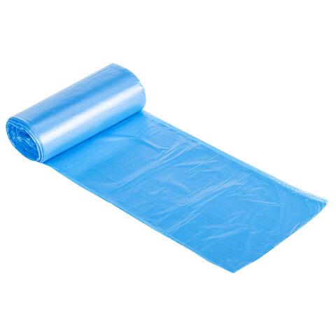"Мешки для мусора LAIMA ""ULTRA"" 20 л синие 30 шт. прочные, ПНД 8 мкм, 45х50 см, 607682"