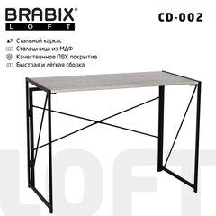 """Стол на металлокаркасе BRABIX """"LOFT CD-002"""", 1000х500х750 мм, складной, цвет дуб антик, 641213"""