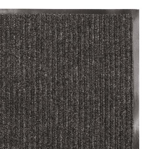 Коврик входной ворсовый влаго-грязезащитный 40х60 см ребристый, толщина 7 мм, черный, ЛАЙМА, 880311