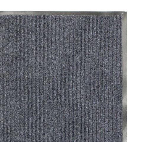 Коврик входной ворсовый влаго-грязезащитный 60х90 см ребристый, толщина 7 мм, серый, ЛАЙМА, 880312